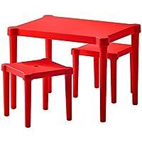 Ikea Utter Kindertisch mit 2 Hockern; in Rot; für Drinnen und draußen preisvergleich bei kinderzimmerdekopreise.eu