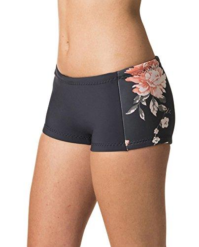 RIP CURL G-Bomb Womens Boyleg 1MM Neoprenanzug Shorts Navy - Easy Stretch - 100% E4 Neopren - 1mm Dicke - E-Stitch - Fleece-stretch-t-shirt