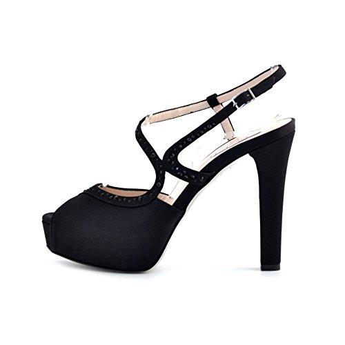 Tiffi , Sandales pour femme Noir Nero Noir - Nero