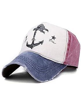 Selldorado® - Gorra de béisbol retro, estilo vintage, burdeos