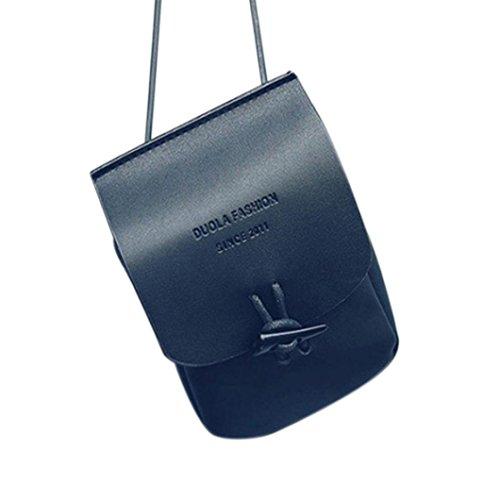 Jamicy Donne in pelle Messenger crossbody spalla borse borsa piccola borsa Blu