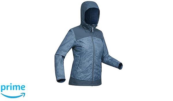 70c194846 Quechua SH100 X-Warm Women's Waterproof Jacket - Blue: Amazon.in ...