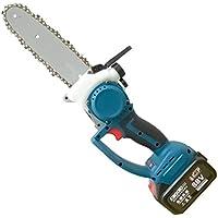 Sierra de podar eléctrica de mano de 8 pulgadas, motosierra eléctrica portátil inalámbrica con 2 pilas, para cortar madera de ramas de árboles