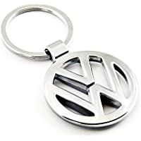 eShop24x7 Chrome Plated Steel Imported Key Chain Key Ring car Logo for Volkswagen Polo Jetta ameo Vento Beetle Cross…