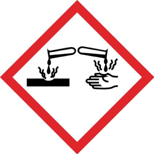 1000 Stück Aufkleber GHS Kennzeichen Gefahrensymbol GHS05
