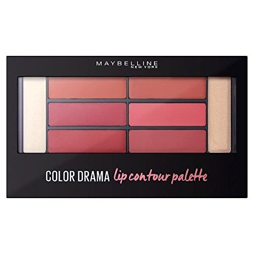 Maybelline New York Lippenpalette, Color Sensational Lip Contour Palette Blushed Bombshell, 1er Pack (1 x 1 Stück) (Lip Color Palette)