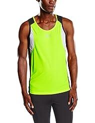 Rogelli puedo confiar de Darby camiseta para hombre Amarillo Fluor-Yellow/Black/White Talla:medium