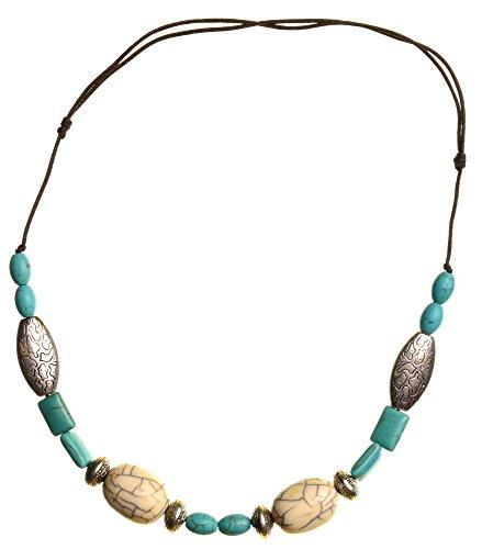 Tibeter Halskette türkis 3 - Ethno-Schmuck - Kette