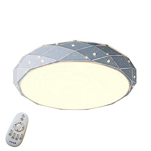 SAILUN® 24W Dimmbar Sternenlicht Deckenleuchte Starlight Rhombus Design LED Deckenleuchte Sternen Φ320*100mm Modern Lampe Kreative Deckenleuchte Wohnzimmer Deckenbeleuchtung (24W Dimmbar)