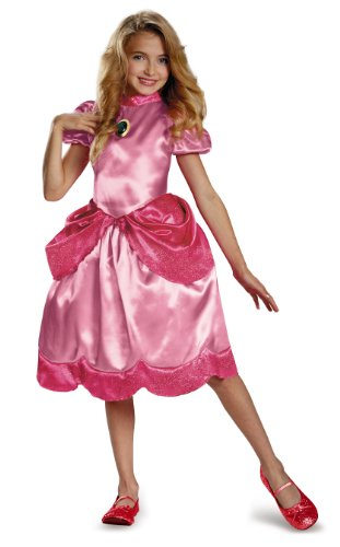 Prinzessin Peach klassische Kostüm für (Zubehör Mario Brothers)