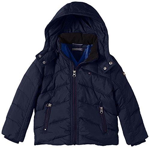 Tommy Hilfiger Jungen Jacke NEBRASKA DOWN JACKET, Gr. 116 (Herstellergröße: 6), Blau (BLACK IRIS-PT 002) (Kinder Tommy Kleidung Hilfiger)
