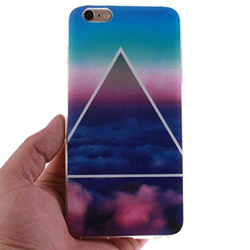 iPhone 6 Plus 6S Plus Custodia Slim Leggero Flessibile TPU Immagine Mandala Case per Apple iPhone 6 Plus 6S Plus 5.5 Nero Colore-7