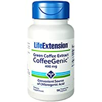 Life Extension CoffeeGenic Green Coffee Extract (400mg, 90 Vegetarian Capsules)