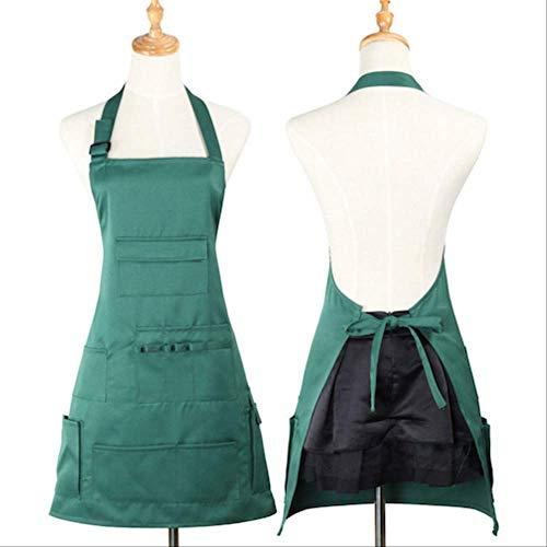 JAIME KIRK Multi Tasche Salon Friseur Arbeitsschürze Friseur Friseur Haare schneiden Kleidung Styling Werkzeuge 70x70cm Grün -