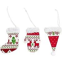 BESTOYARD 6pcs Adornos de árbol de Navidad Colgantes Decoraciones Puerta de la Pared árbol de Navidad Colgantes (Estilo Aleatorio)