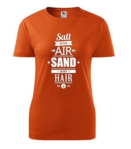 Colour Fashion Rétro Estate t Shirt Arancione