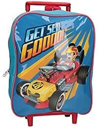 Preisvergleich für Mickey Mouse Rucksack baby DISNEY tasche freizeit schule blau mit trolley VZ760