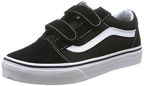Vans K Old Skool V Vvhe6Bt, Baskets mode mixte enfant - Noir (Black/True White), 30 EU (12.5 US)