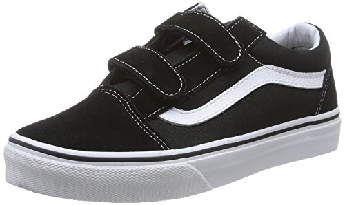 Vans OLD SKOOL V, Low-Top Sneaker unisex bambino Nero (Black/True Whit 6BT)