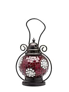 Vent léger lanterne lampe photophore terrasse du jardin maison verre 20cm blanc