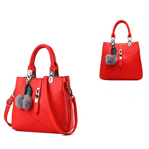 Eysee, Borsa tote donna nero Light grey 29cm*21cm*13cm rosso