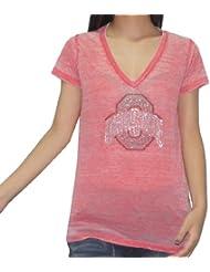 NCAA Ohio State Buckeyes femmes Rhinestones T-Shirt(Vintage Look)