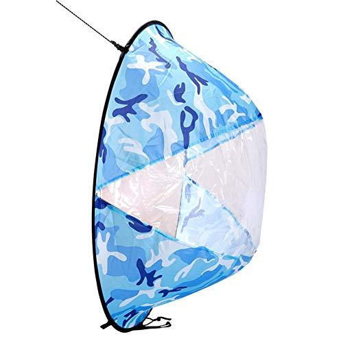 Diseño de estilo de camuflaje marino único, tan especial que las velas de kayak se ven más llamativas.   Información:Nombre del producto: WindsurfMaterial: nylonTamaño (aprox.):Tamaño desplegado: 42 pulgadas (108x108cm)Tamaño de almacenamiento: 40...