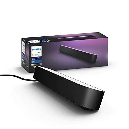 Philips Hue White & Color Ambiance Play Lightbar Erweiterung, Dimmbar, Bis Zu 16 Millionen Farben, Steuerbar Via App, Kompatibel Mit Amazon Alexa, Weißschwarz