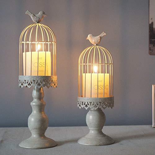 TAOtTAO Vogelkäfig Kerzenhalter Vintage Candle Stick Inhaber Hochzeit Kerze Centerpiece (S) -
