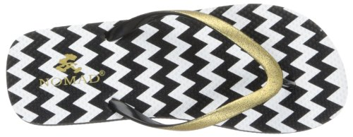 Nomad Doodle Synthétique Tongs Black-White