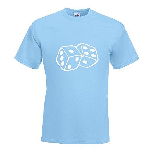 KIWISTAR - Würfel T-Shirt in 15 verschiedenen Farben - Herren Funshirt bedruckt Design Sprüche Spruch Motive Oberteil Baumwolle Print Größe S M L XL XXL Himmelblau