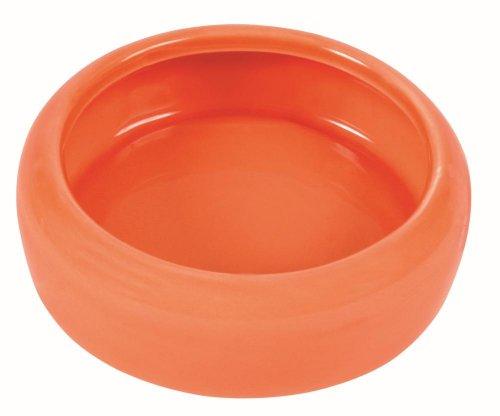 Trixie Keramik Schüssel mit abgerundetem Schüttrand für Meerschweinchen, 200ml