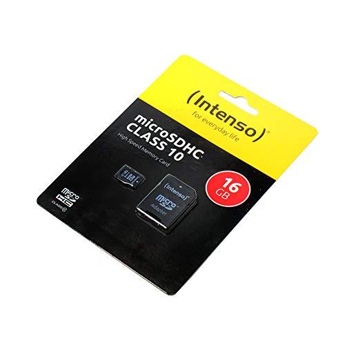 P4A Cyrus cm 16 - HYBRID, Speicherkarte, 16GB, microSDHC, Class 10, High Speed, SD Adapter, Schnelle Schreib- und Lesegeschwindigkeit