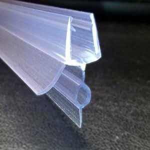 Joint de bas de porte de douche pour porte en verre paisseur 6 8 mm espace isoler 14 mm - Joint porte de douche en verre ...