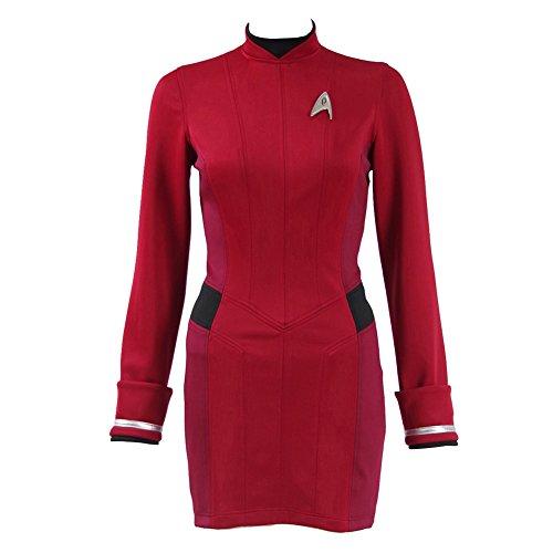 CosDaddy® Rot Kleid Cosplay Kostüm US Size (S) (Trek Star Kleid)