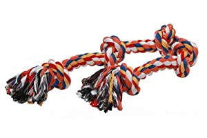 Nobby Hunde Zerr- und Spielseil schwer 700g mit 2 Knoten, bunt