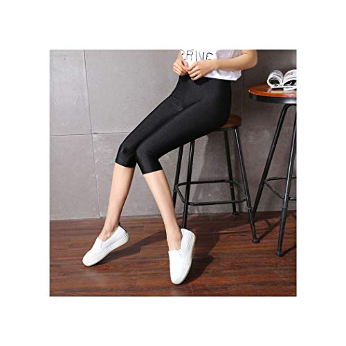 Women's Calf-Length Pants Slim Solid Female Shiny Pants Women Mujer Simple Casual Elasticity Trousers Large Size S-5XL for Woman Style 2 XXXL -