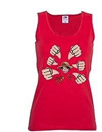 GIOVANI & RICCHI Damen Ruffy Luffy Piraten König Fitness Shirt T-Shirt Tank Top in verschiedenen Farben