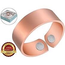 BisLinks® 99.9% Kupfer Magnetisch Health Ring Für Männer Men & Frau Women Extra Strong 2 Magnete (3000 Gauss Each) Migraine Arthritis Pain Bio Therapie Healing Carpal Tunnel Relief Unisex
