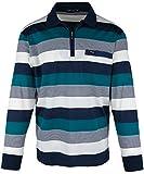 SOUNON Langarm-Poloshirt für Herren Türkis (M5), Groesse: XL