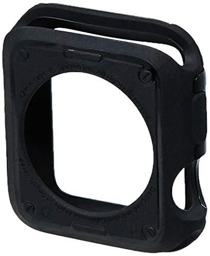 Spigen [Tough Armor Kompatibel mit Apple Watch Series 3/2 42mm Hülle [Schwarz] Stoßabweisende Doppelte Schutzschicht Handyhülle für Extrem Fallschutz Schutzhülle Case Cover (059CS22405)