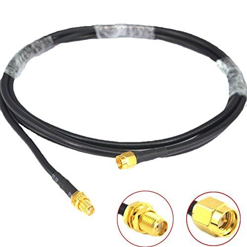 Low Loss WiFi Antenne Kabel 2m SMA Stecker auf SMA Buchse RG58KOAXIAL 50Ohm für 3G 4G LTE Schinken ads-b GPS RF Radio Verwenden
