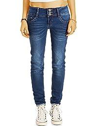 bestyledberlin Damen Skinny Fit Jeans, Basic Röhrenjeans, Schmale Hüftjeans j44k