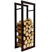 WATSONS ONIDA - Metal 40cm Slimline Fireside Log Storage Rack - Black