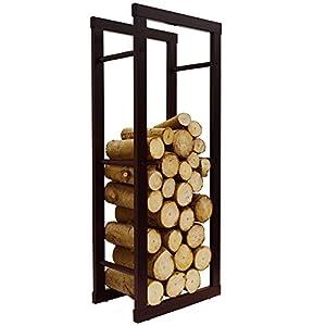 WATSONS ONIDA - Metal 40cm Slimline Fireside Log Storage Rack - Black