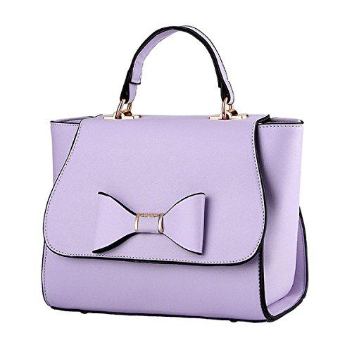 WU Zhi Signore PU cuoio Morbido Sacchetti Borse Purple