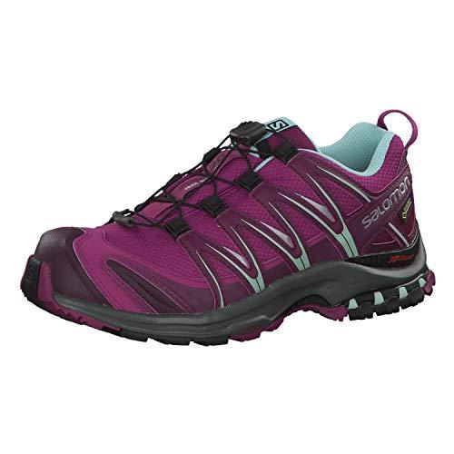 Salomon Damen XA Pro 3D GTX, Trailrunning-Schuhe, Wasserdicht, violett (hollyhock / dark purple / eggshell blue), Größe 38 2/3