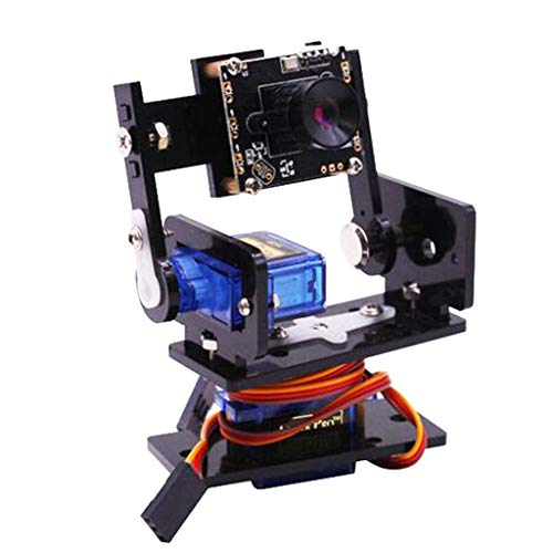 perfk USB2.0-Schnittstelle Intelligenter Kamera-Vision-Sensor + 2Pcs-Micro-Servos-Motor Kompatibel Mit Raspberry Pi Model 2B