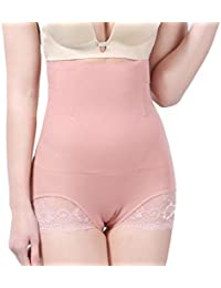 GladiolusA Femme Culotte Sculptante Invisible Gainante Taille Haute  Dentelle Minceur Panty Ventre Plat Amincissant Shapewear Body 0ab589c7967