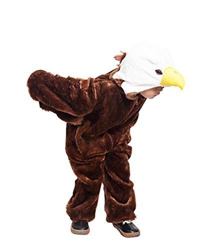Ikumaal Adler-Kostüm, F125 Gr. 110-116, für Kind-er Jungen Mädchen, Fasching - Bis Vogel Kostüm